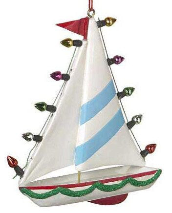 Sail Boat Christmas Ornament