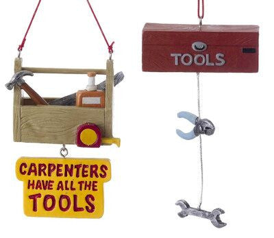 Tool Box Christmas Ornaments (Set of 2)