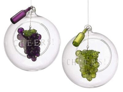 Grape Christmas Ornament (Set of 2)