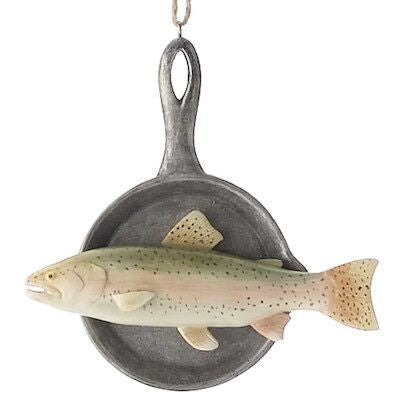 Fish in Pan Christmas Ornament