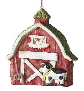 Barn Christmas Ornament