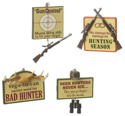Hunting Christmas Ornaments (sET OF 4)