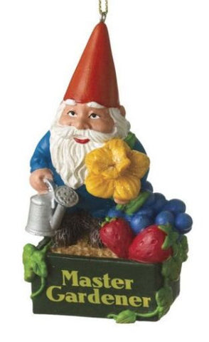 Garden Gnome Christmas Ornament