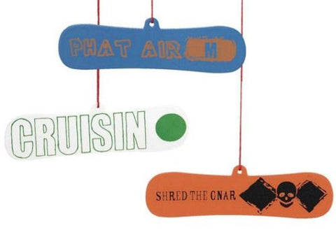 Snowboard Christmas Ornaments (Set of 3)