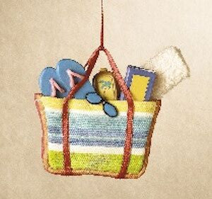 Beach Bag Christmas Ornament