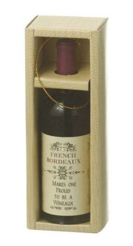 Bordeaux in a Box Christmas Ornament