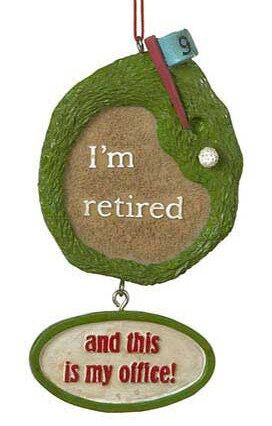 Retired Golf Christmas Ornament