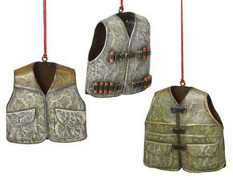 Hunting Vests Christmas Ornaments (Set of 3)