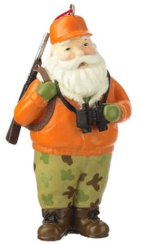 Hunting Santa Christmas Ornament