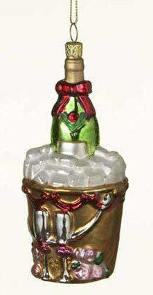 Champagn Bottle Christmas Ornament