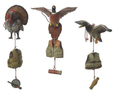 Duck Hunting Christmas Ornaments (Set of 3)