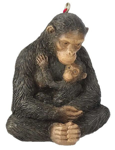 Chimp with Baby Christmas Ornament