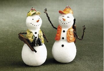 Hunting Snowmen ChristmaS Ornaments (Set of 2)