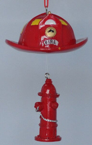 Fireman Hat Christmas Ornament
