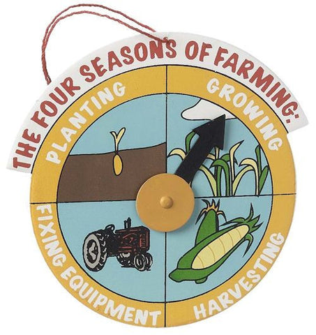 Four Seasons of Farming Christmas Ornament