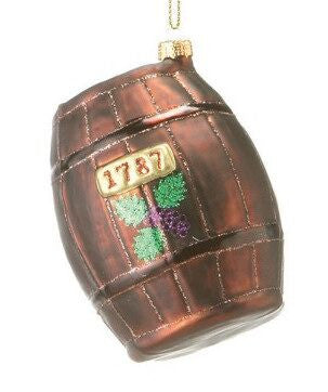 Wine Barrel Christmas Ornament