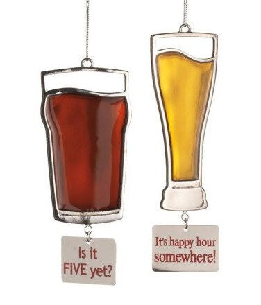 Beer Christmas Ornaments (Set of 2)