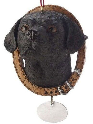 Labrador in Collar Christmas Ornament
