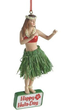 Hula Girl Christmas Ornament