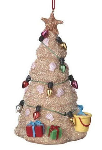 Sand Castle Christmas Ornament