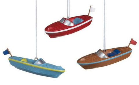 Boat Christmas Ornaments (Set of 3)