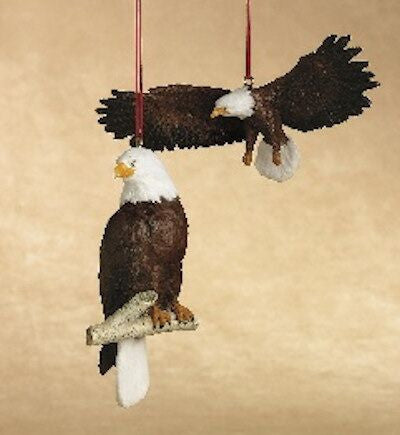 Bald Eagle Christmas Ornaments (Set of 2)