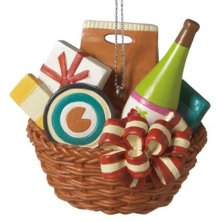 Gift Basket Christmas Ornament