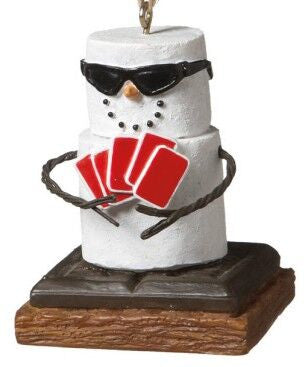 S'more Poker Player Christmas Ornament