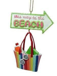 Beach Bag Sign Christmas Ornament