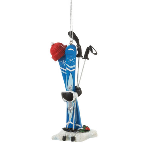 Ski Equipment Christmas Ornament