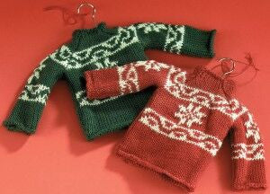 Ski Sweater Christmas Ornament (Set of 2)