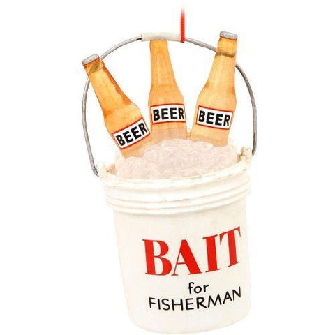 Beer Bait Bucket Christmas Ornament