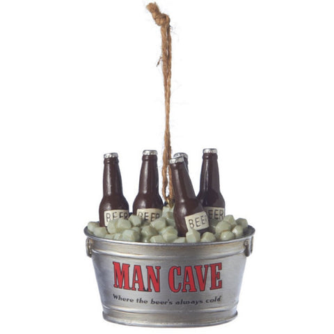 Man Cave Beer Tub Christmas Ornament