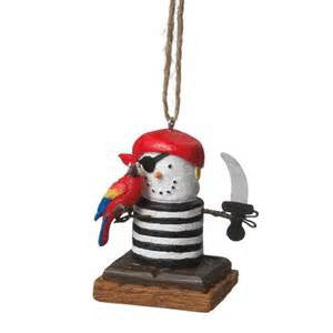 S'more Pirate Christmas Ornament