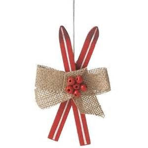 Red Ski Christmas Ornament