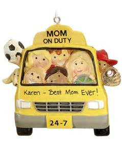 Mom Taxi Christmas Ornament