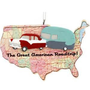 American Road Trip Christmas Ornament