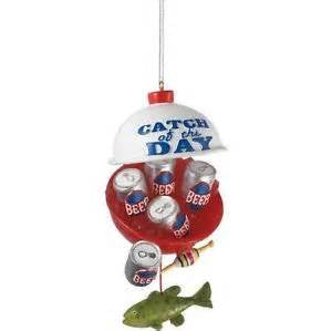 Catch of the Day Beer Bobber Christmas ornament