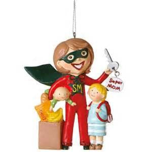 Super Mom Christmas Ornament