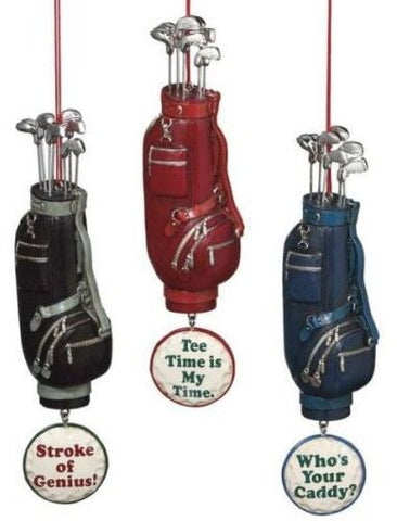 Golf Bags Christmas Ornaments (Set of 3)