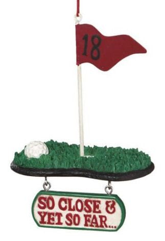 So Close Golf Christmas Ornament
