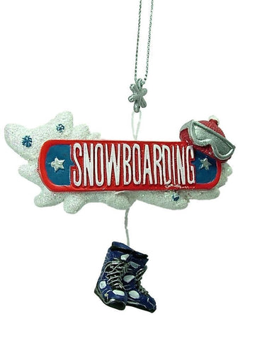 Snowboarding Christmas Ornament