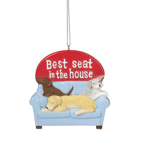 Best Seat in the House Dog Christmas Ornament