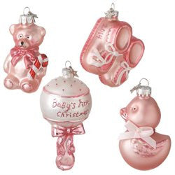 Baby Girl Gift Boxed Ornament (Set of 4)