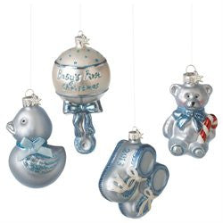Baby boy Gift Boxed Ornaments (Set of 4)