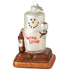S'more Wine Lover Christmas Ornament