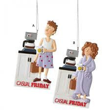 Casual Friday Christmas Ornament (Set of 2)