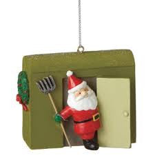 Santa Ice Fishing Christmas Ornament