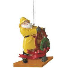 Captain Santa Christmas Ornament