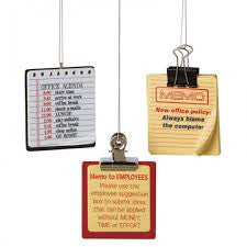 Office Memo Christmas Ornaments (Set of 3)